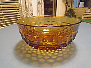 Whitehall Amber Punch (Salad Too) Bowl Vintage