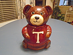 Teddy T Sweater Bear Cookie Jar