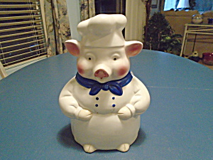 Pink Pig Chef Cookie Jar