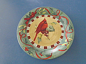 Lenox Cardinal & Nuthatch Dinner Plates 2 For 1 Worn