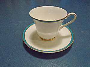 Minton Saturn Turquoise Sets Of Cups/saucers