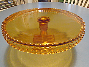 Smith Amber Cake Pedestal Vintage 8 In.