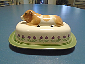 Pfaltzgraff Circle Of Kindness Covered Butter Dish Cow