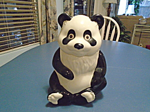 Metlox Panda Bear Cookie Jar Vintage