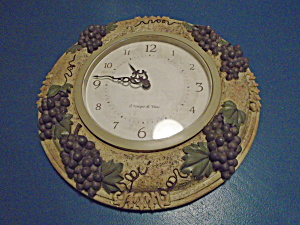 Grape Battery Wall Clock Plastic/resin