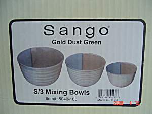 Sango Gold Dust Green Smallest Mixing Bowl
