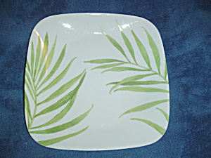 Corelle Square Bamboo Leaf Dinner Plates