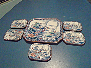 Made In Japan Set Of Trays 1 Large 5 Small Stoneware Beautiful