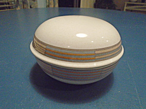 Mikasa Tracings Round Covered Box Porcelain