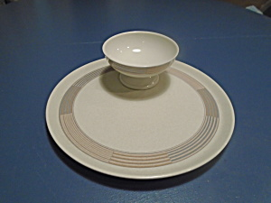 Mikasa Tracings Crudite Plate With Bowl