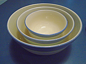 Paltzgraff Floral Breeze Set Of 3 Stacking Mixing Bowls