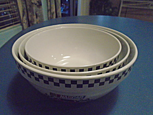 Nascar Set Of 3 Stacking Mixing Bowls By Gibson