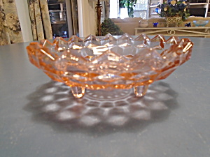 Whitehall Colony Fostoria American Pink 3 Footed Bowl