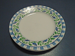 Corelle Unknown Pattern Lunch Plates Blue/lilac, White, Green