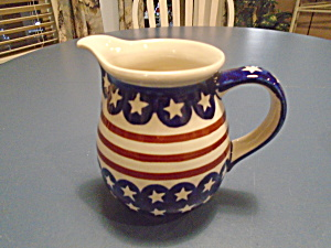 Boleslaweic 5.75 In. Tall Stars And Stripes Pitcher