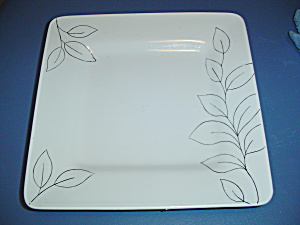 Laurie Gates Antilles White Square Dinner Plate