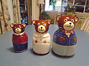 Three Bears Canister Set Ceramic Small Size