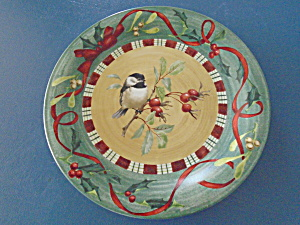 Lenox Winter Greetings Chickadee Dinner Plate