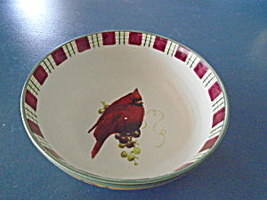Lenox Winter Greetings Everyday Cardinal Bowl