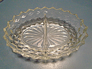 Fostoria American Clear Divided Bowl