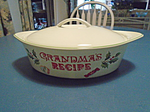 Lenox Grandma's Recipe Oval Covered Baker Casserole