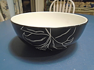 Laurie Gates Antilles Black Round Serving Bowl