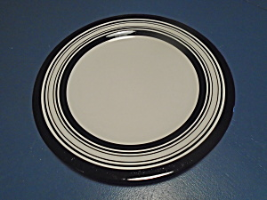 Laurie Gates Antilles Black Stripe Dinner Plates