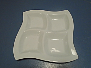 Pier 1 Wavy 4 Part Condiment Dish