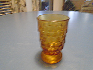 Whitehall Amber Juice Glasses 3.75 In. High