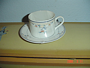 Princess House Heritage Blossom Cups And Saucers