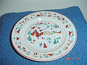 Farberware White Christmas Dinner Plates