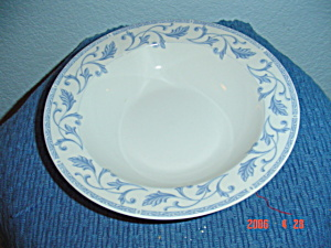 Farberware Blue Scroll Rimmed Soup Bowls
