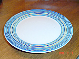 Pagnossin Blue Stripe And White Salad Plates
