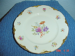Warwick Gold Scalloped Floral Pattern Bread Plates