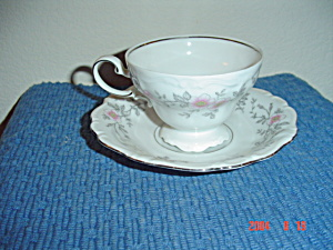 Johann Haviland Louise Footed Cups/saucers - Bavaria