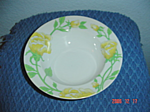 Fitz & Floyd Yellow Rose Soup Bowls