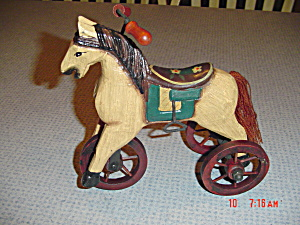 Wooden Horse Tricycle