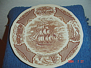 Alfred Meakin Fair Winds Fairwinds Dinner Plates - Brown