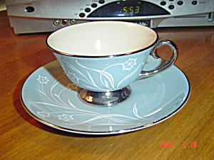 Flintridge Reverie Strata Blue Cups And Saucers