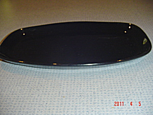 Frankoma Plain Black Oval Platter