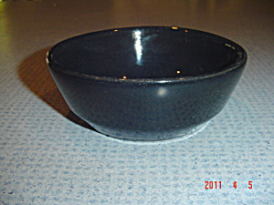 Frankoma Plain Black Small Bowls Dessert Or Fruit