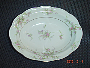 Theodore Haviland Rosalinde Oval Serving Bowl - Damaged