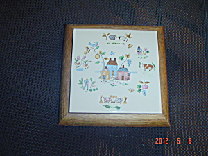 International Heartland Village Trivets - Ceramic And Wood