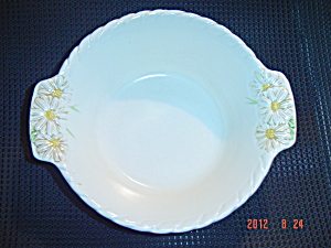 Metlox Sculptured Daisy Serving Bowl With Handles