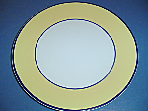 Pagnossin Spa Bright Yellow Blue Verge Dinner Plates