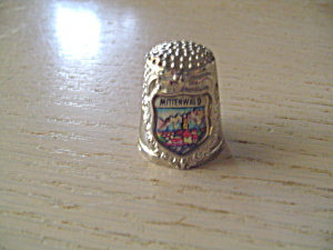 Metal Thimble From Mittenwald - Germany
