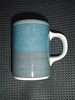 Dansk Gridworks Blue Mugs