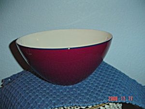 Pagnossin Burgundy/white/navy Mixing/serving Bowls