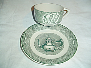 Royal China Old Curiosity Shop Cups And Saucers