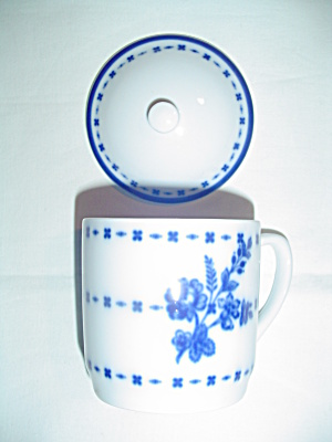 Williams-sonoma Flow Blue Covered Mugs - Mint - Great Gift
